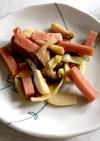 簡単♪魚肉ソーセージとエリンギの醤油炒め