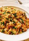 簡単♡納豆と塩昆布のパラパラ炒飯