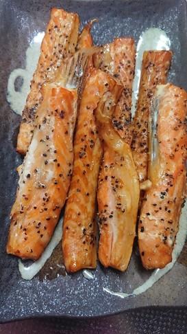鮭ハラスの燻製(^O^)