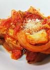 ピリ辛でお酒が進む♪豚肉のトマト煮込み