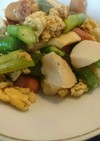 春野菜のスクランブルエッグ炒め