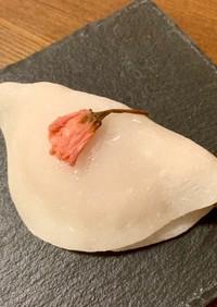 桜の季節の 花びら餅