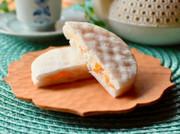 柿のレアチーズサンドの写真