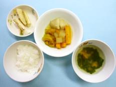 白身魚と野菜の煮物(9ヶ月)@つくば市