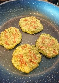 離乳食後期〜水菜とキャベツのお好み焼き