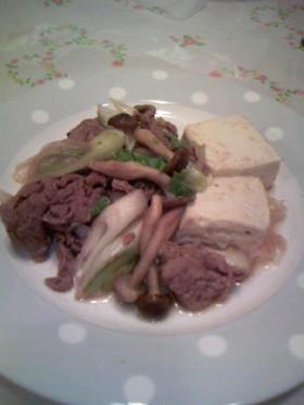 ねぎと牛肉のすき焼き風煮