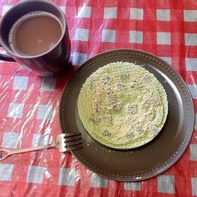 抹茶プロテイン蒸しパン(+サイリウム)