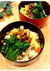 菜の花と煮穴子のちらし寿司