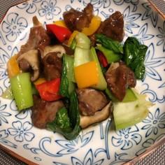 醤油香る鶏レバと野菜の中華炒め