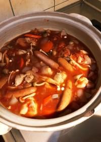 ヘルシー!手作りソースで絶品トマト鍋