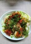 春キャベツと鶏天の甘辛丼(^o^)