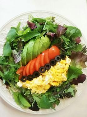アボカド トマト ベビーリーフ サラダ
