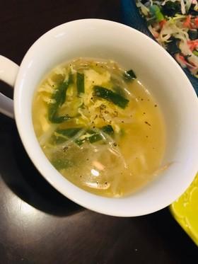 ニラもやし卵スープ 簡単