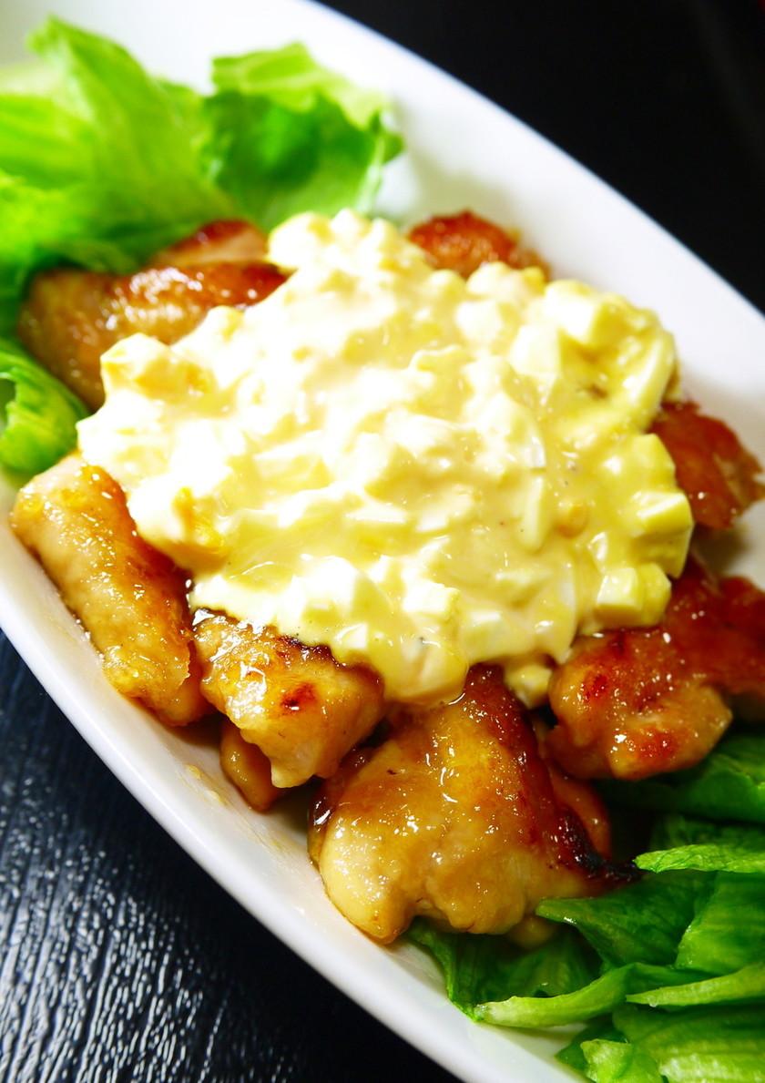 ぷりぷり鶏もも肉の照り焼き~マヨ卵のせ~