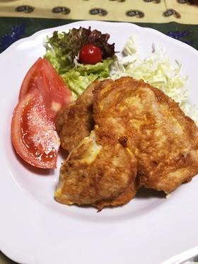簡単20分◎鶏むね肉のやわらか肉厚ピカタ