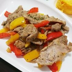 豚肉とパプリカの簡単炒め