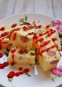 朝食に♪「ウインナーとチーズの蒸しパン」