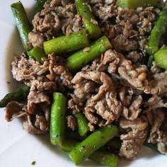 牛肉とアスパラのスパイス炒め❗️