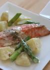 鮭のレモンクリームソース煮