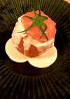 簡単本格アボカドとゆで卵のトマトファルシ
