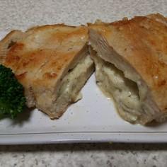 鶏胸肉のチーズ入り青じそ風味ソテー