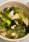 簡単☆レタスと卵と韓国のりのスープ