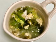 簡単☆レタスと卵と韓国のりのスープの写真