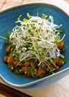 プチプチとスプラウトの納豆小鉢