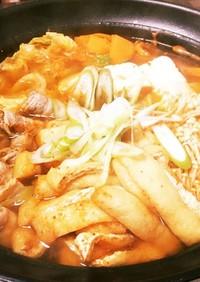 キムチ鍋 桃屋のキムチの素で簡単キムチ鍋
