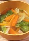 時短!野菜を食べるレタススープ