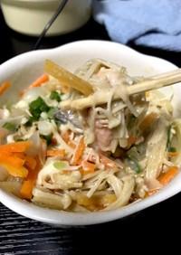 【レンジで簡単】鮭と野菜の味噌マヨ和え