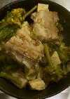 豚バラ肉の梅風味角煮・菜の花添え
