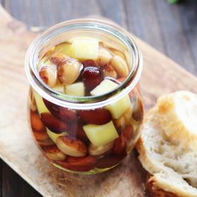 簡単&美味しい!お豆とチーズの蜂蜜漬け