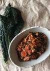 カーボロネロと豚ひき肉のトマト煮込み