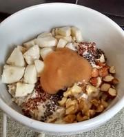ドイツ人ティーネの朝ご飯:オートミール粥の写真
