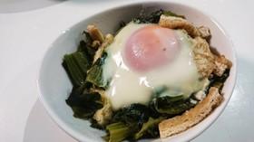 マンバ(高菜)の卵落とし