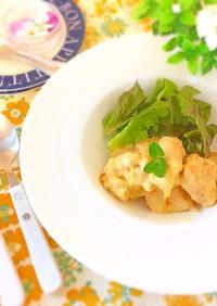 クリープで鶏肉のレモンクリーム煮