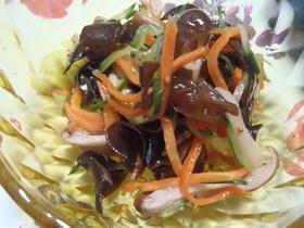話題のキクラゲで…ダイエット中華風酢の物