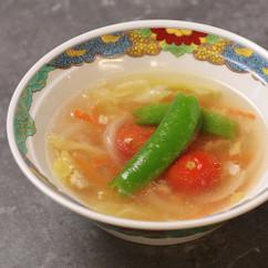 具だくさんの春雨スープ