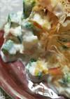 ✿オクラと豆腐と長芋のツナマヨサラダ✿