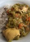 残ったチキンスープでスープカレー