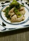 九条ねぎと豚肉のふき味噌炒め