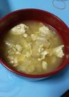 白菜と豆腐の卵とじスープ。