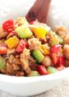 カラフル野菜とツナの豆炒め