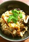 あたりめと干し椎茸のもち麦炊き込みご飯
