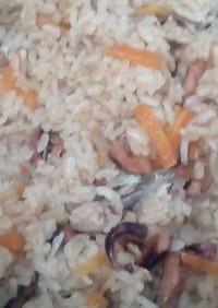 干しイイダコの炊き込みご飯