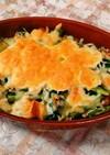 かき菜と茹で玉子のグラタン