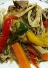 春雨入り肉と野菜のオイスターソース炒め