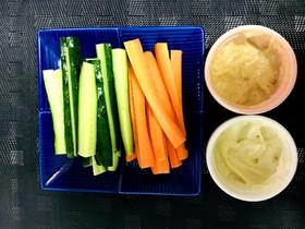 野菜スティックディップ 簡単2種