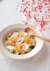 ひなまつりに、春野菜のちらし寿司